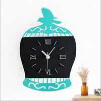 antique small clock - Wall Clock Saat Watch Reloj de Pared Horloge Murale wall clock Klok creative modern small birdcage Reloj living room wall Clocks