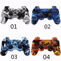 Wholesale 13 color New Design Camouflage Color Wireless Bluetooth Controller for play station PS3 Controller