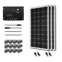 Wholesale Renogy Watt Volt Monocrystalline Solar Starter Kit with Wanderer Charge Controller