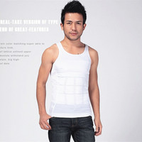 Wholesale Popular Comfortable Men s Body Shapers Belly Shaper For TV Slimming Shirt Boy Body Shapewear Elimination Sexy Girdles Of Male Beer Belly DHL