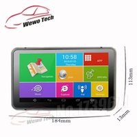 automotive rear view camera - 7 inch Car DVR GPS Navigation Android P DVR Recorder Mb Gb Truck Vehicle Gps Navigator With Rear View Camera Free Maps