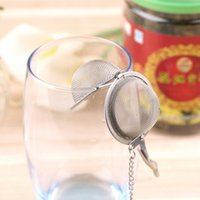 Wholesale Stainless Steel Sphere Locking Spice Tea Ball Strainer Mesh Infuser tea strainer Filter infusor Mesh Herbal Ball cooking tools