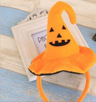 Wholesale Halloween many cute hoop hair band Pumpkin bat hat adult children s Halloween party dressed up
