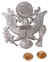 army officers hat - WWII US ARMY EPLURIBUS UNUM OFFICERS METAL CAP HAT BADGE SIER