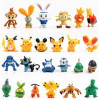 Wholesale Poke Pikachu set action figure PVC Pocket Monster toys model cm plastic doll toy kids gift A