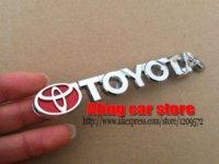 Wholesale 2015 Newest Toyota Letter car logo emblem Rear badge Car Sticker Decal for Camry Yaris Vios RAV4 Corolla Reiz