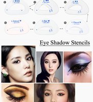 Wholesale 6pcs set Eye Shadow Stencils Eyeshadow Models Eyeshadow Auxiliary Tools Tracing Shadow Card Draw The Eye Makeup Tools