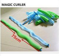 75cm DIY magia de los bigudíes de pelo del tamaño grande Rodillos magia Leverag Rodillos del pelo mágico del círculo del pelo que labra el rodillo de pelo largo 18pcs / set + gancho