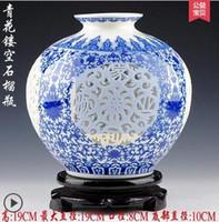 achat en gros de ceramic and porcelain vase-010 Jingdezhen céramique coquille d'oeuf vase en porcelaine blanche et blanche creusé ivoire moderne mode Home Furnishing salon décoration
