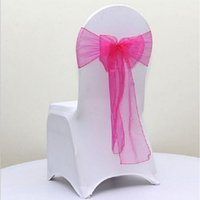 Wholesale 200pcs set New Organza Chair Sashes Bow Wedding And Events Supplies Party Decoration Colors ZA1004