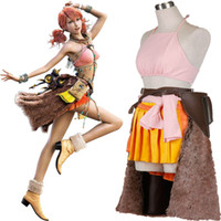 Wholesale HOT Popular EXCLUSIVE Apparel Final Fantasy XIII FF13 Oerba Dia Vanille Cosplay Costume Full Set Halloween