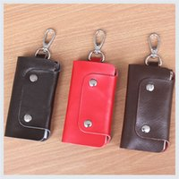 Wholesale Fashion Genuine Leather Keys Holder Women Key Wallets keys holder for birthday gifts color mixed