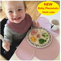 bar table sets - 47 cm Waterproof Silicone Placemat Bar Mat Baby Kids Cloud Shaped Plate Mat Table Mat Set Home Kitchen Pads DHL