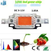 Wholesale 10pcs led grow light Full spectrum W nm nm spectrum led for plant growing LED GROW Lights COB Plant growth LIGHT source CHIN