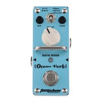 Wholesale AROMA AOV Ocean Verb Effect Digital Reverb Electric Guitar Effect Pedal Mini Single Effect with True Bypass Guitar Parts