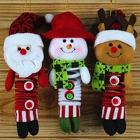 Wholesale Exquisite Christmas Swing santa snowman deer with Spring Feet Christmas decoration ornament hunger gift