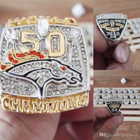 Wholesale New Arrival Denver Broncos Super Bowl Championship Ring replica rings for man fans as gift sports rings Miller or Manning