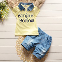 abc clothes - 2016 Infant clothes toddler children summer baby boys clothing sets cartoon abc clothes sets boys summer set