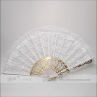 Wholesale Seven flower Wing Chun fan Chinese fan dance fan fan of white lace roses
