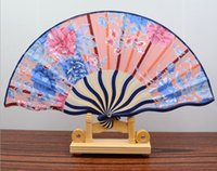bamboo fabric manufacturer - Ms manufacturer summer new upscale boutique silk cloth folding fan keel fan dance fan gift order