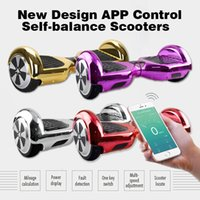 scooter electric - Chrome Color Electric Scooter SUPPER POWER APP CONTROL Smart Self balancing Hoverboard NEW DESIGH ONE KEY SWITH Scooters Chrome colors
