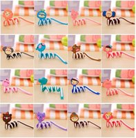 Wholesale New Styles Cute cartoon animal Cable Winder Moblie Earphone Bobbin Winder Cable Management Cell Phone Accessories AB09