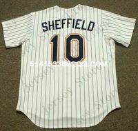 sheffield - Deluxe Edition Retro GARY SHEFFIELD Baseball Jersey Throwback White Mens XS XL Stitched Jerseys