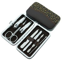 Wholesale 2016 New Set Manicure Nail Care Tools Clippers Scissors Kits Stainless Steel JH23
