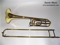 Wholesale Brass Tenor Trombone in Bb F Bell Size mm with Plastic case EMS Musical instruments