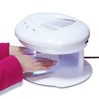 air fan sensor - 2016 Nail Fan Dryer MAKARTT Professional Infrared Nail Dryer Machine Both Hands Automatic Double Sensor Warm Cool Breeze Air Nail Fan Dryer
