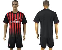 Wholesale ac milan soccer jersey football uniform home away men kits jerseys uniforms men set el shaarawy kaka honda maldini menez sets