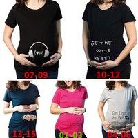 Wholesale New Arrivals Pregnant T shirt Maternity Shirt Short Sleeved Fashion Design Summer Soft Cotton KD2