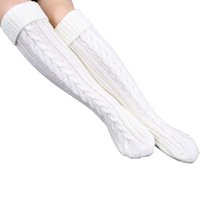 best sock yarn - Best Deal New Women Warm Stockings Step Foot Knit Woolen Yarn Over Knee Stocking Pair