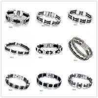 arc stainless - Great Wall pattern Arc cross titanium steel bracelet mixed style GTTB2 New arrival fashion stainless steel bracelet pieces a