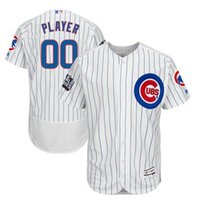 Wholesale Men s Chicago Cubs Majestic White World Series Bound Home Custom Authentic Flex Base Jersey