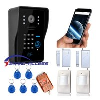 Wholesale New Wifi video door phone doorbell Wireless Intercom Support G G IOS Android for iPad with Access Control Remote Control Alarm