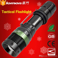 Wholesale Lomon Portable Long Range Military Waterproof Rechargeable Zoom Police Tactical Led Flashlight Torch For AAA Or Battery