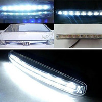 Wholesale Free shopping Retail one pair ultra thin COB day line light new car LED high power COB waterproof modified generic day time running lights