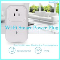 Wholesale Wifi Smart Socket Outlet Us Power Plug Turn on Off Electronics From Anywhere Remote Control Timing Function Not Works with Alexa