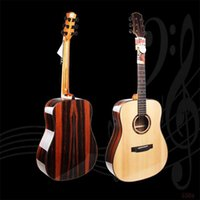 Wholesale 41 inch Folk Guitar Strings Musical Instruments High grade Single Spruce Ebony Fingerboard Hollow Classic Acoustic Guitar