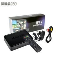 Wholesale Free DHL Mag250 Linux System IPTV Set Top Box Processor STi7105 RAM Mb Top Quality IPTV BOX MAG Like Mag