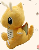 Wholesale high quality Movie Poke Dragonite plush doll quot Yellow Pikachu doll stuffed animal Poke Pet Plush doll toys T5113