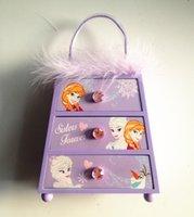 baby jewelry box - Cartoon Frozen Elsa Anna Jewelry Box Feather Girls Princess Accessories Jewel Case Wood Girl Baby Presents Children s Gifts Box Purple A5317