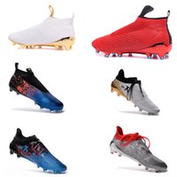 Wholesale Slip on Soccer Ace Purecontrol FG AG soccer X Purechaos soccer football shoes without laces preparing waterproof