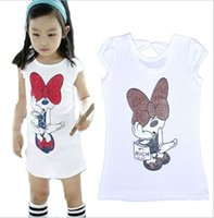 Wholesale INS Summer Cute Girls tshirts Clothing Cotton Cartoon Blouses Girls Kids Clothes Short Sleeve Bottoming Shirt Enfant Clothing