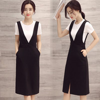 Wholesale 2016 Casual Comfortable Women Dress Set Women Pretty Black Women Dresses Set In Colors And Size With Long Women Clothing