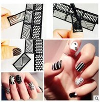 Wholesale 24colors DIY Hollow Out Nail Art Template Manicure Tools Nail art Nail Art Print Template Image Plate Stamper Scraper Set