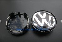 abs plastic products - CAR STYLING mm for Volkswagen emblem black wheel center cap curved plastic wheel cover Item Product Code D0601165 M7601165