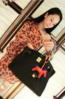 Wholesale Hot sale coloful lady fashion animal Bag charm women Handbag ornament pu leather horse bag Accessories H0448