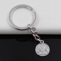 antique cross pens - Fashion diameter mm Key Ring Metal Key Chain Keychain Jewelry Antique Silver Plated fleur de lis louisiana mardi gras new orleans mm Pen